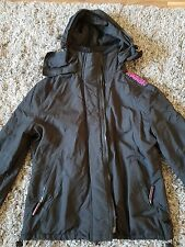 ladies black superday jacket  used size m
