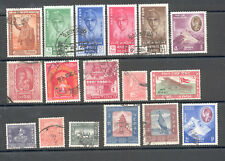 Nepal - Nice Lot of used Stamps Years 1954 - 1961