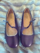 Girls blue Party Shoes Size 4 UK M&S excellent condition