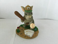 CHARMING TAILS FITZ AND FLOYD READY TO TAKE A SWING AT IT LTD ED FIGURINE