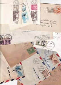 US STAMP Possessions CANAL ZONE COVER, PC  COLLECTION LOT  - total 11