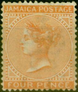 Jamaica 1872 4d Brown-Orange SG11 Good Mtd Mint