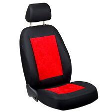 Roter Velours Sitzbezüge für VOLKSWAGEN PASSAT Autositzbezug NUR FAHRERSITZ
