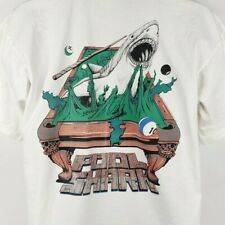 Pool Shark T Shirt Vintage 90s Lifeforms Billiards Shark Attack Size Large