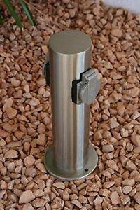 Steckdosensäule Edelstahl Energiesäule Steckdose Gartensteckdose 2-fach 11287