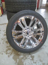 "22"" New Silverado Suburban Factory Spec Chrome Wheels 3054022 Nexn Tires 4741A B"