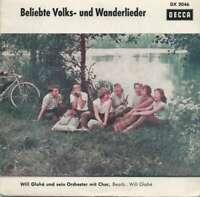 """Will Glahé Und Sein Orchester Mit Chor Belieb 7"""" Mono Vinyl Schallplatte 28088"""