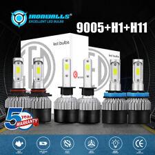 2500W 6000K 9005+H1+H11 Combo LED Headlight Bulbs Kit 6pcs Hi Lo Beam Fog Lights