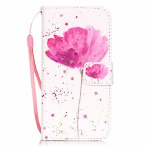 For iPhone 5/6/7/8/X Samsung Fashion Wallet Flip Pattern PU Leather Cover Case