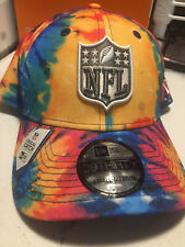 NFL Shield Crucial Catch 3930 Stretch Fit Hat Cap Tie-Dye Logo Cancer Referee 20