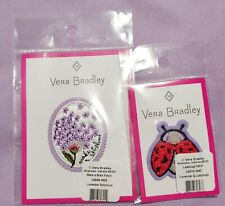 Nwt 2 Vera Bradley Patches Make A Wish Lavender & Ladybug