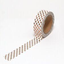 Washi Tape Copper Foil Triangles Bronze Metallic 15mm x 10m