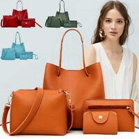 4pcs/Set Women Leather Handbag Lady Shoulder Bags Purse Tote Messenger New