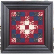 FRAMED QUILT SQUARE  Country Wall Hanging Lancaster PA Amish Hand Quilted
