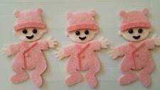 x3 Felt baby girl embellishments.Die cuts.