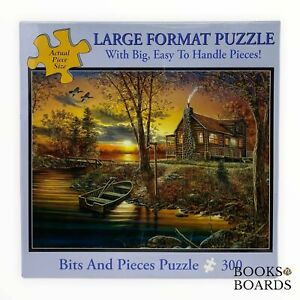 """Jim Hansel """"As Night Falls"""" 300 Large Piece Puzzle   Bits and Pieces   New"""