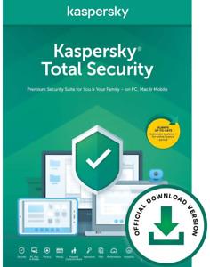 Kaspersky Total Security 2021 | Antivirus Secure VPN | PC/Mac/Android
