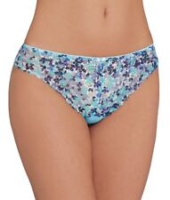 Chantelle Merci Tanga Lace Brief Knickers Size S (small) in Blue C1749