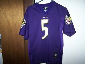 BALTIMORE RAVENS  Youth Jersey Size L 14-16 #5 FLACCO  TEAM NFL