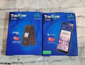 Tracfone LG Journey 4G LTE and Alcatel My Flip Prepaid Cell Phones