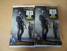 The Walking Dead Season 5 Lot Of 20 Factory Sealed Trading Card Hobby Packs