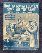 Sheet Music: HOW YA GONNA KEEP EM DOWN ON THE FARM (After They Seen Paree?)-1919