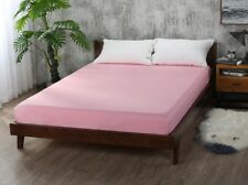 Bed Fitted Sheet Elastic Sheets Polyester & Cotton Single Twin Full Queen King