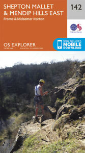 Shepton Mallet and Mendip Hills East 142 Explorer Map Ordnance Survey With Digit