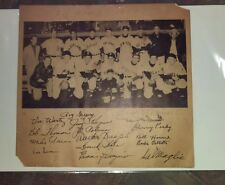 "Original 1950 AL Baseball All Star Team 11"" x 11 3/4"" Team Photo w/16 Autographs"