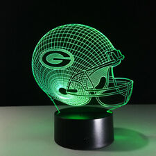 Green Bay Packers 3D LED Lamp Aaron Rodgers Home Decor Gift Collectible