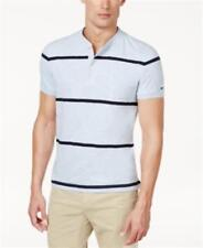 Tommy Hilfiger Classic Fit CottonHenleyCashmere Blue Heather Mens Small New