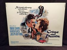 Original 1976 CRIME AND PASSION Half Sheet Movie Poster 22 x 28 Omar Sharif