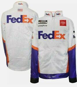 Denny Hamlin #11 FedEx 2020 Snap Up Uniform Replica Pit Jacket