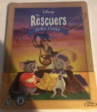 THE RESCUERS DOWN UNDER New BLU-RAY STEELBOOK Disney Movie Region-Free Rare/OOP