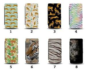 Tiger Pattern Flip Wallet Case Tigers Rainbow Colourful Kids Print Stripes 8087c