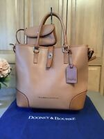 DOONEY & BOURKE Large Pebble Leather Shelby Shopper/Tote in Caramel/Butterscotch