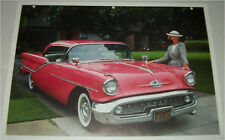 1957 Oldsmobile 98 Holiday ht car print (red)