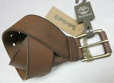 TIMBERLAND MENS GENUINE LEATHER BELT BRASS BUCKLE size 34 NEW W/TAG MSRP$55.00
