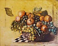 Wolfgang ZELMER (*1948) TOP Farbradierung 1988:  KORB  mit Früchten #  51 von 75