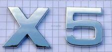 Cromo x5 caracteres cromo emblema logotipo cromo logo 3d pegatinas klebeschild para bmw nuevo