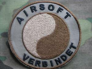 ARMY FUN MILITARY OUTDOOR MORALE AUFNÄHER KLETT PATCH AIRSOFT VERBINDET COYOTE