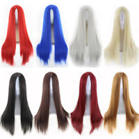 NEW Womens Ladies Long  Straight Wig Fancy Dress Cosplay Wigs Party Costume