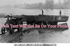SU 405 - Hickey's Traction Engine Lauching Boats, Richmond, Surrey - 6x4 Photo