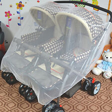Oversized Mosquito Net for Baby Double Carriage Stroller Pram Net Cover NewPop