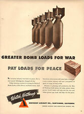 1942 WW2 AD NORTHROP AIRCRAFT Lift More BOMBS ! Hawthorne CA 043017
