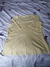 Ladies Plain Yellow Tshirt, Size 18, Unbranded