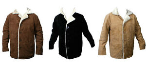 Men's Jacket Soft Suede Pig napa with bonded Fur inside, GREAT PRICE Style#23600