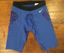 Nike Men's Pro Compression Short Training Color Blue / Black Size M New