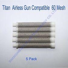 Titan Airless gun filter 60 mesh(5 pack), airless spray gun filter
