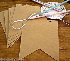 DIY Blank kraft pennant bunting/banner kit-wedding,party,baby shower decoration